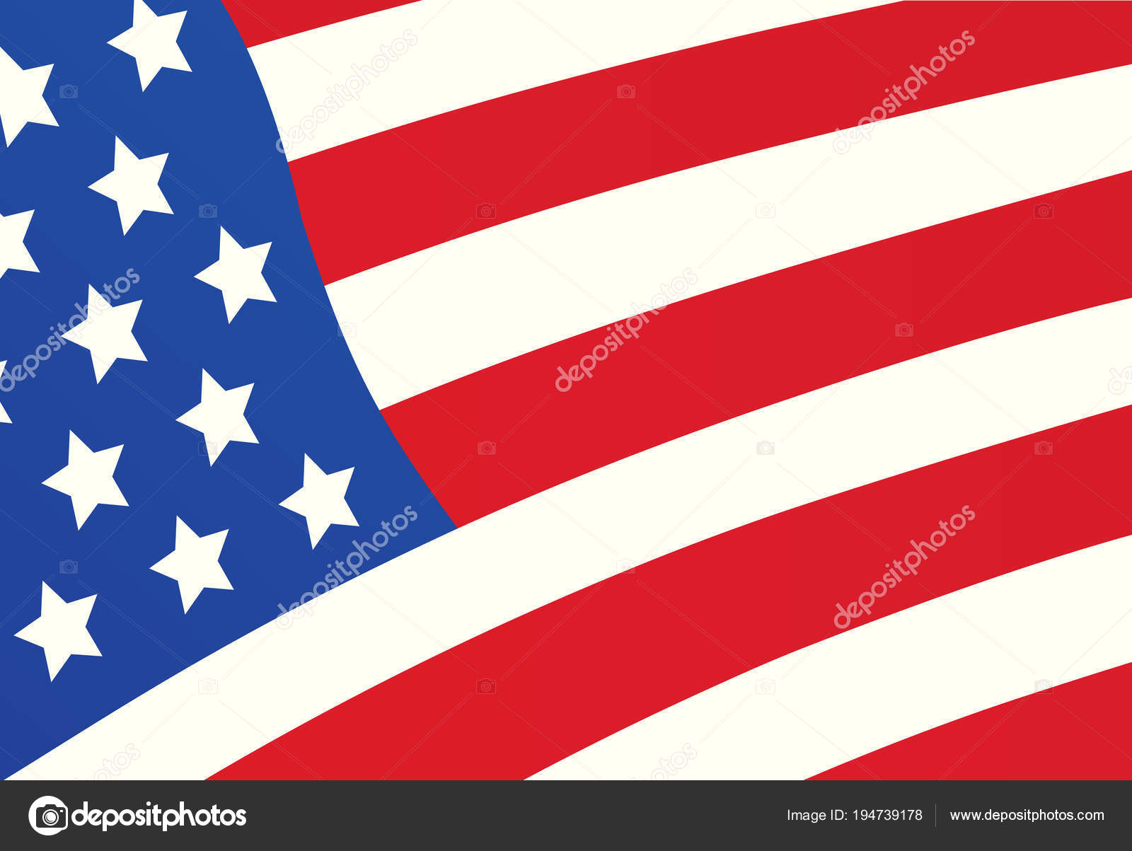 american flag cover design template banner for independence day