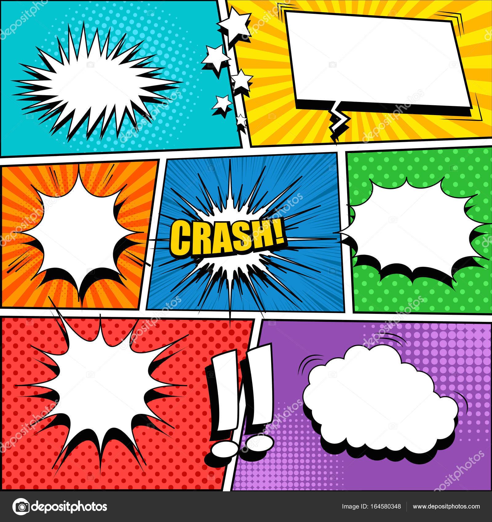 Comic-Buch-Seitenvorlage — Stockvektor © Petersenurecoff.gmail.com ...