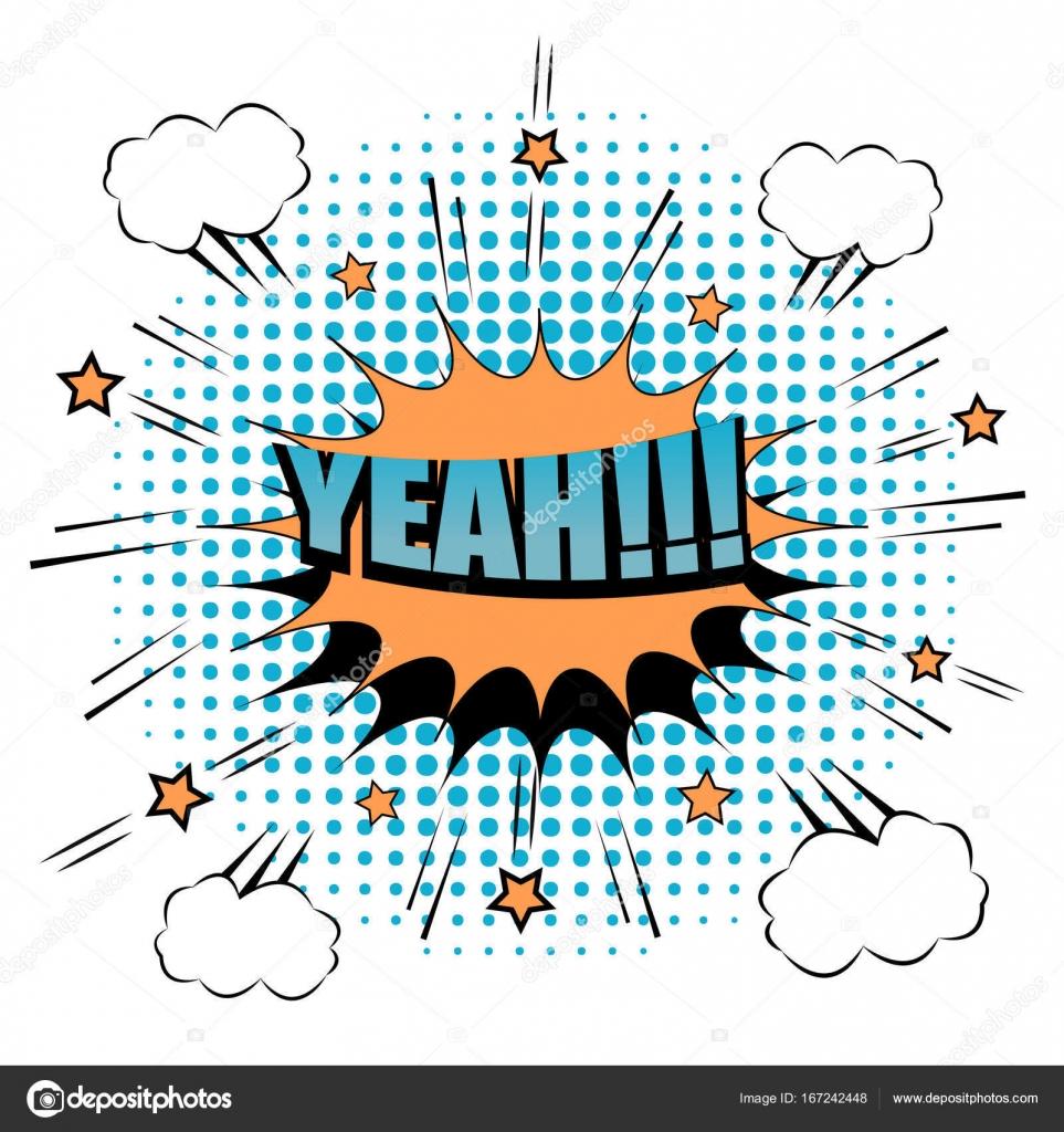Comic Yeah wording background — Stock Vector
