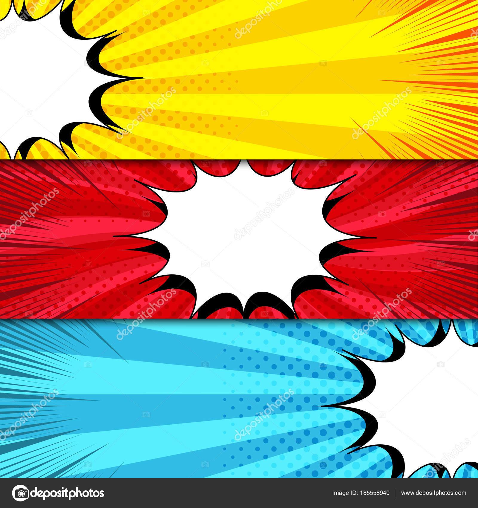 Comic book horizontal banners — Stock Vector © Petersenurecoff.gmail ...