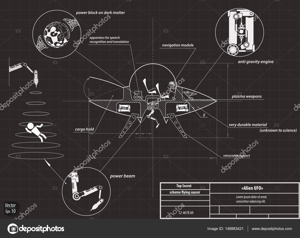 einfaches Schema der Ufo — Stockvektor © denpovstin.gmail.com #148883421