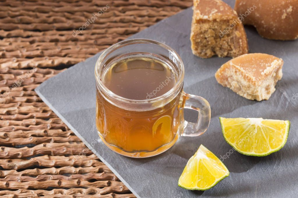 Panela with lemon drink - Citrus  limon