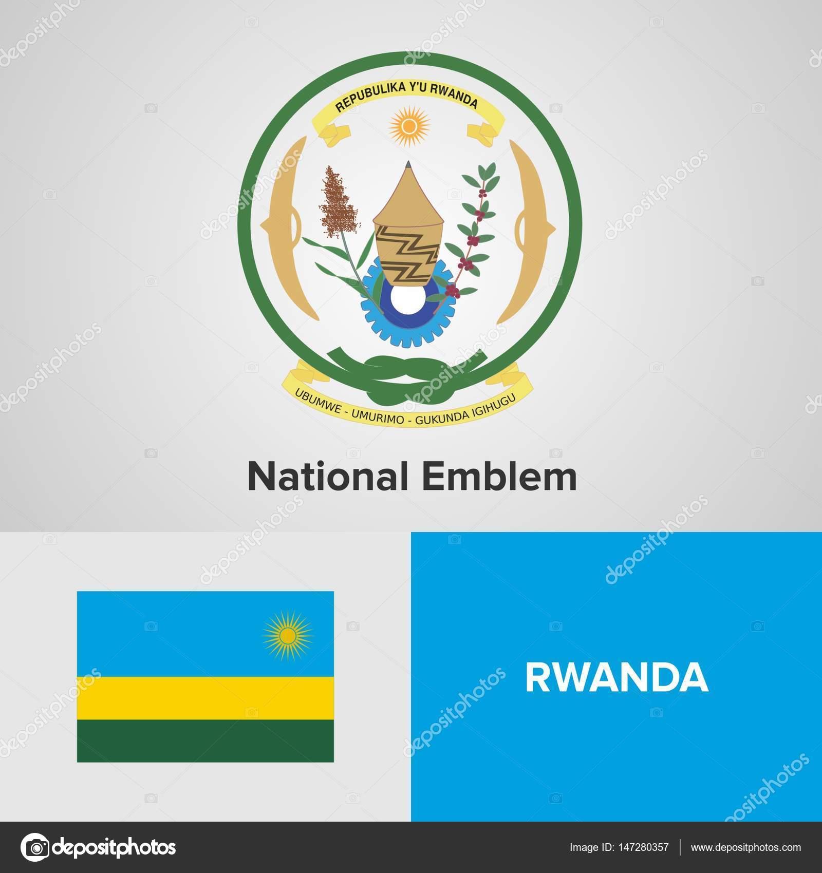 ルワンダの国章と国旗 — ストッ...