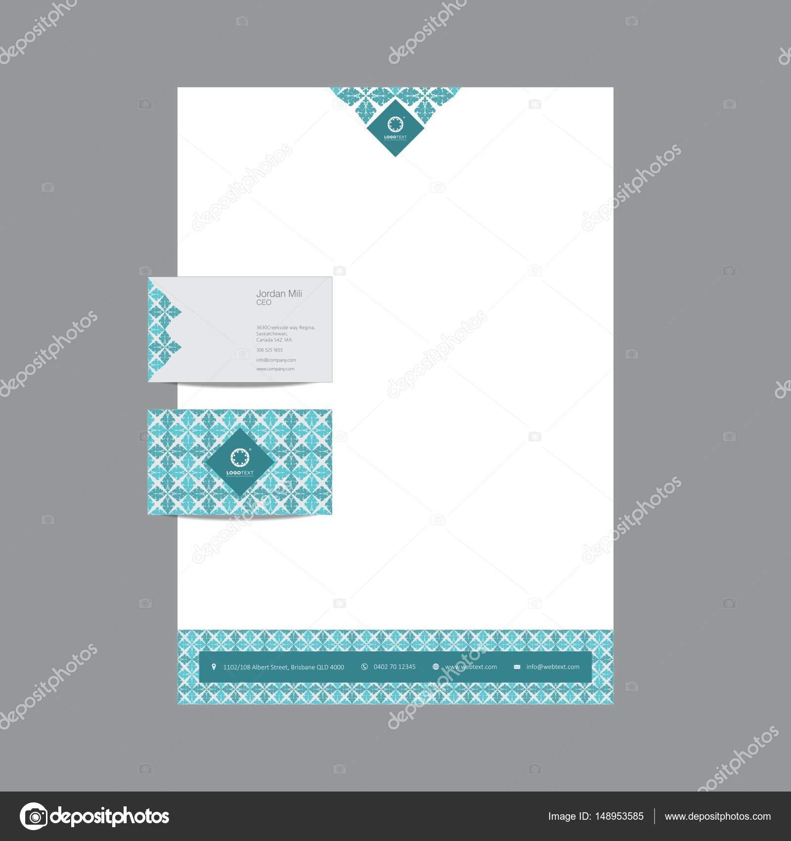 Carte De Visite Professionnelle Et Papier A En Tete Design Illustration Stock