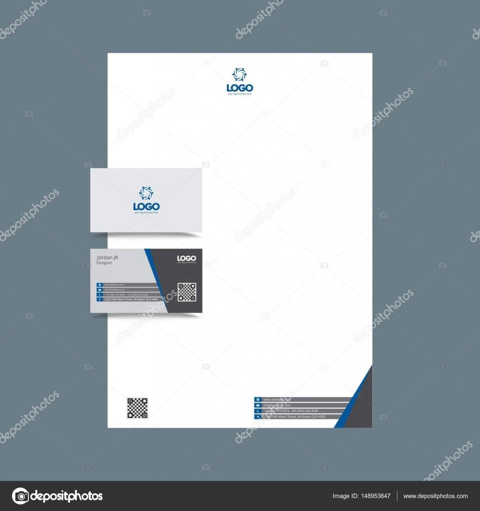 Carte De Visite Professionnelle Et Papier En Tte Design Image Vectorielle