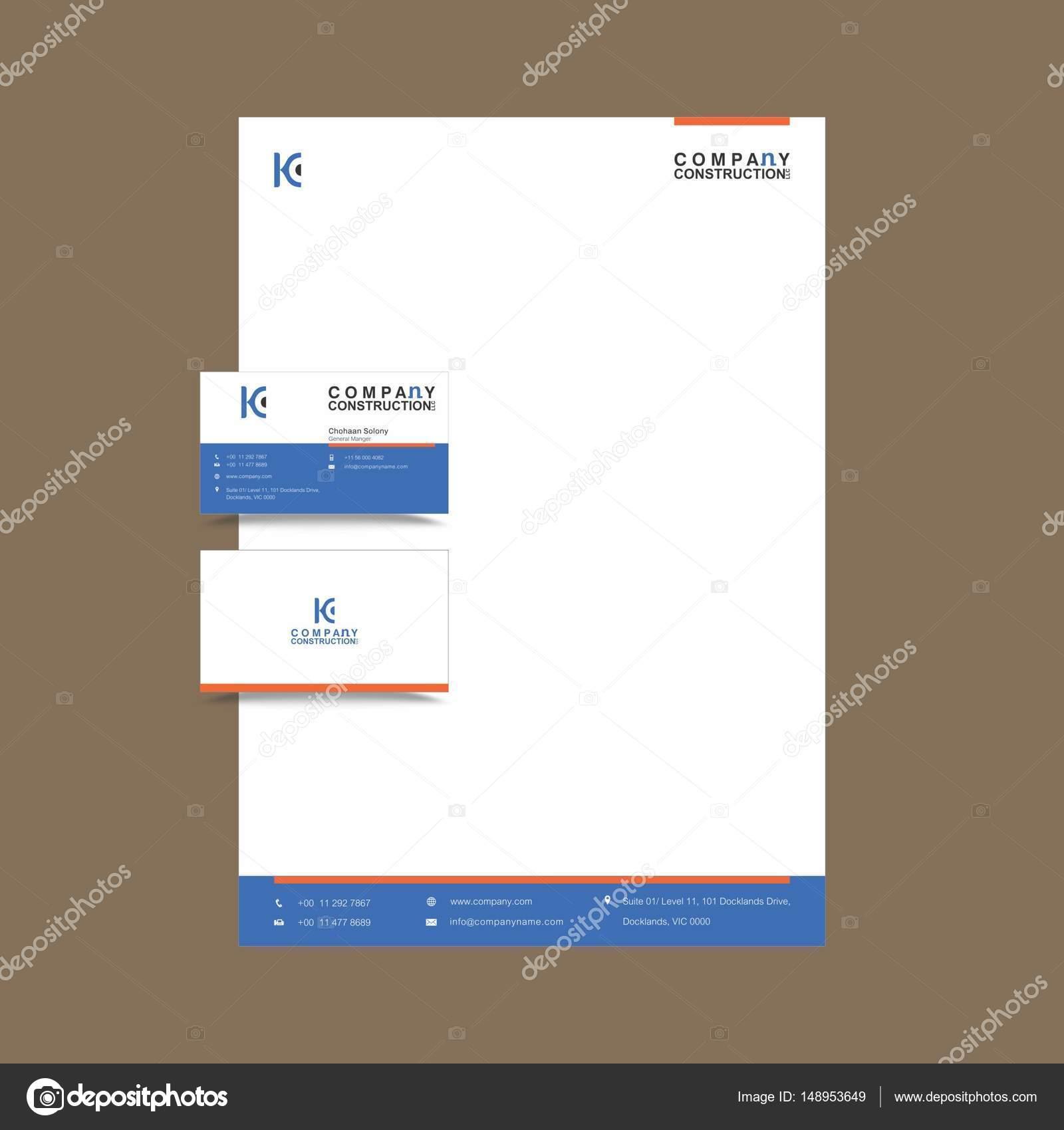 Professionelle Visitenkarten und Briefpapier Design — Stockvektor ...