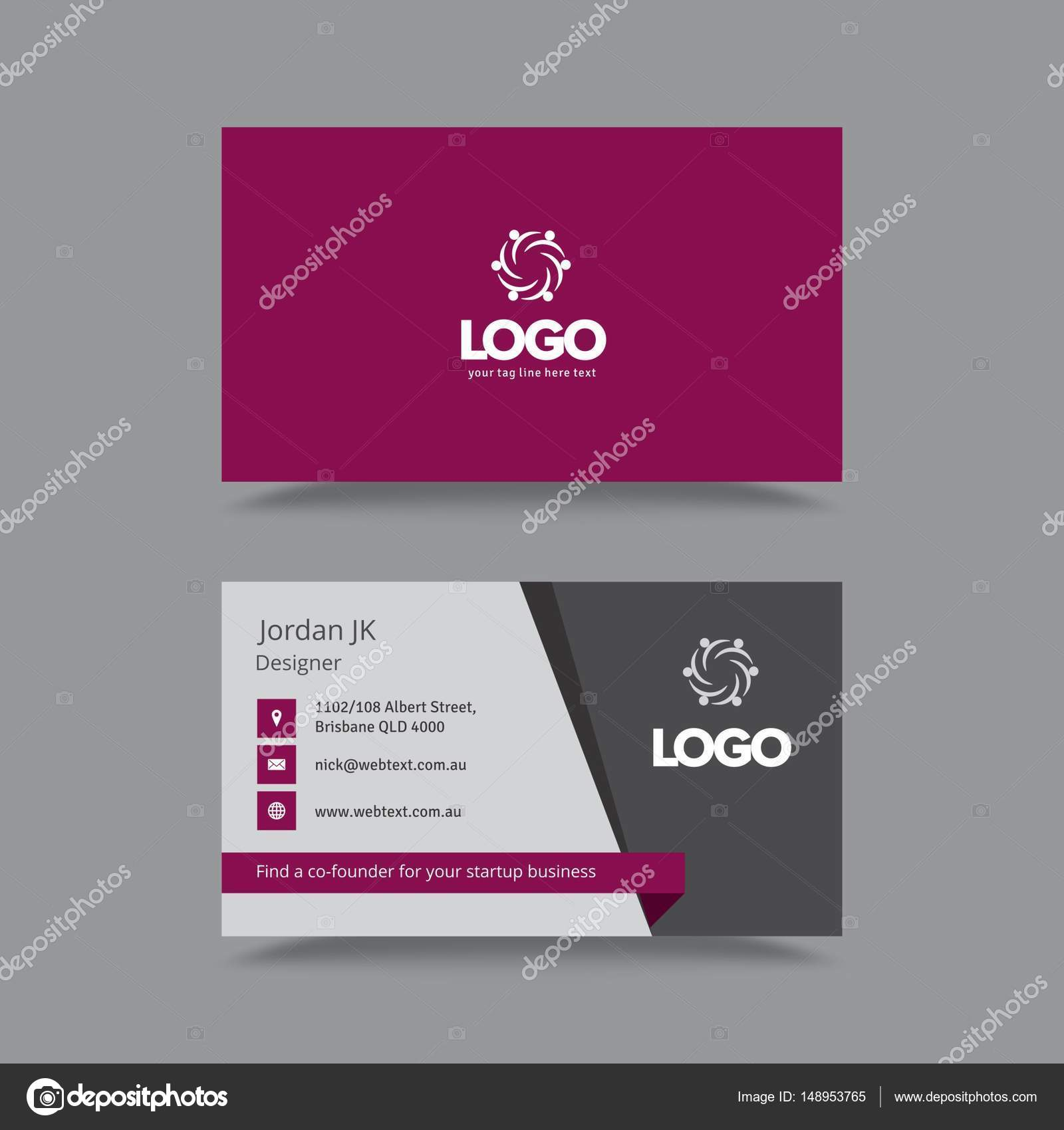 Professional Business Card Design — Stock Vector ...