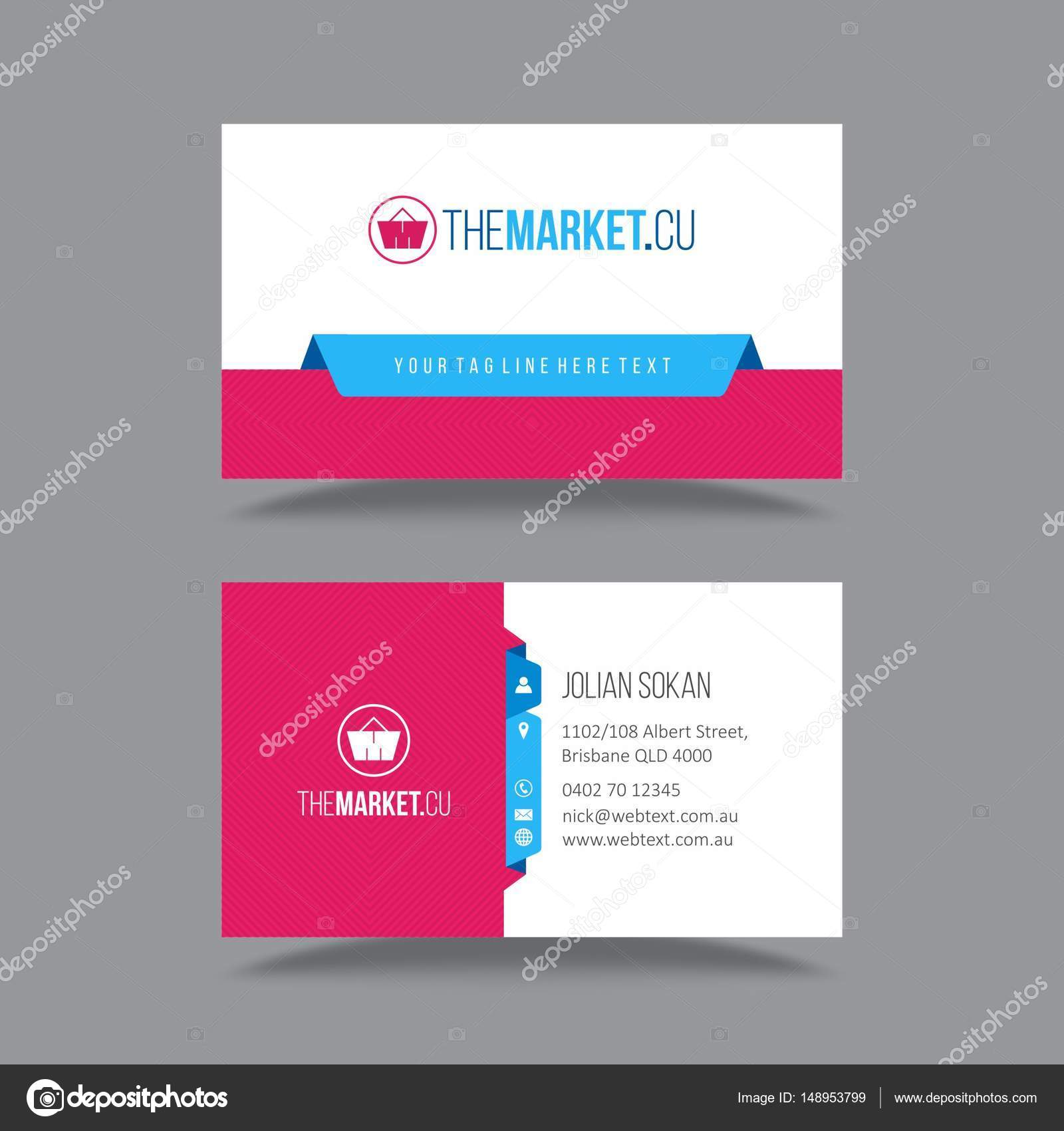 Professional business card design stock vector professional business card design stock vector colourmoves