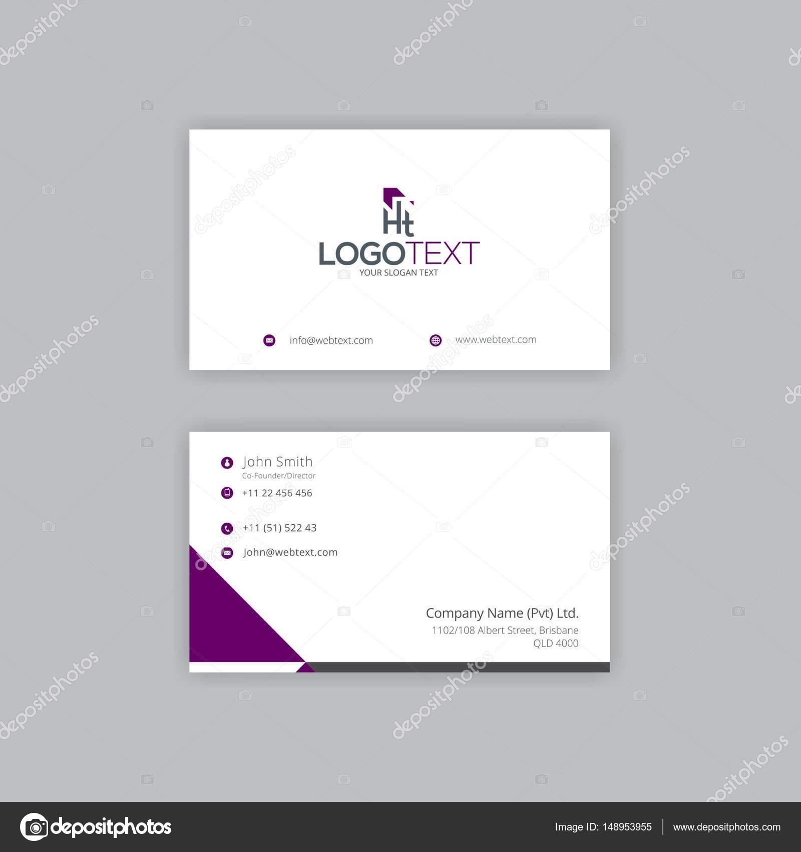 Digital IT company Business Card Design — Stock Vector ...