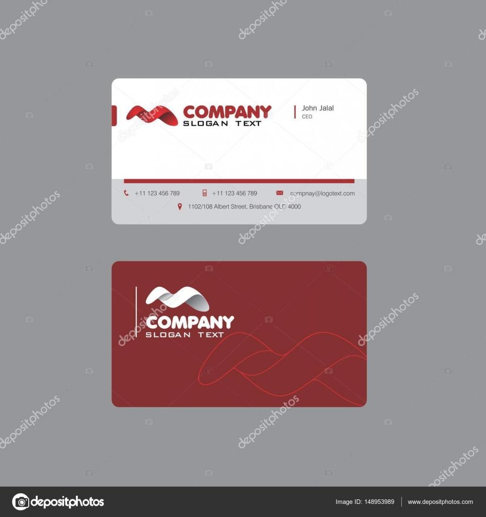 Firma M schöne Visitenkarten-Design — Stockvektor ...
