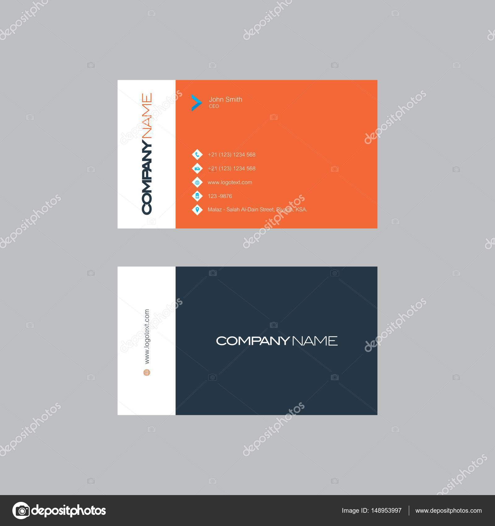 IT company Business Card Design — Stock Vector © shahsoft_production ...