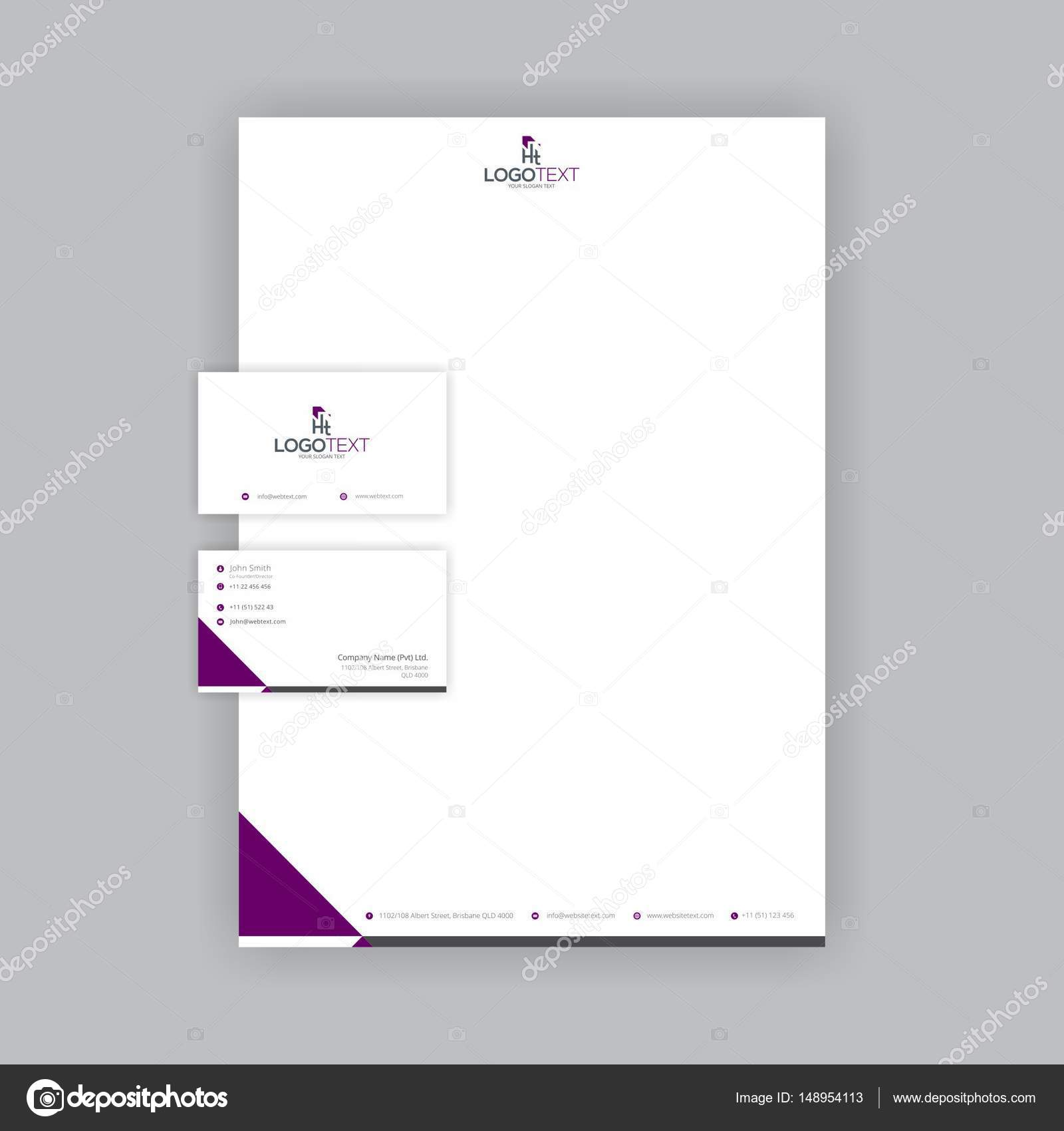 Professional Business Card and letterhead Design — Stock Vector ...