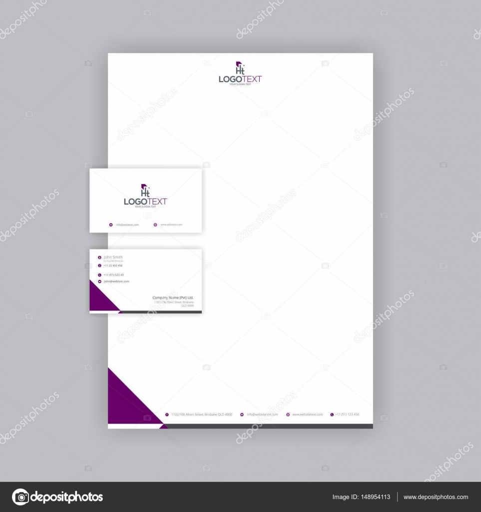 Professional business card and letterhead design stock vector professional business card and letterhead design stock vector reheart Image collections