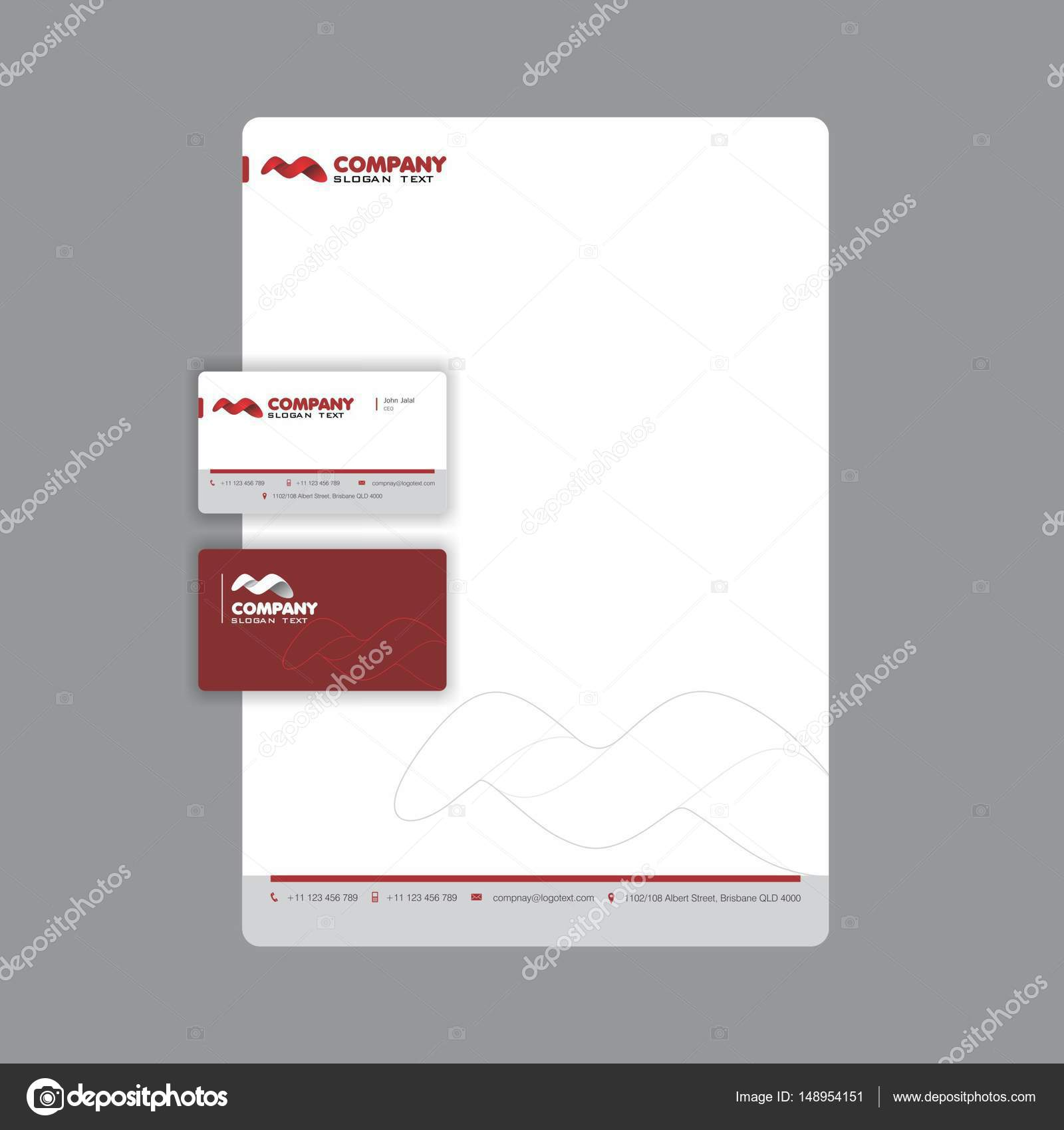 Professional business card and letterhead design stock vector professional business card and letterhead design stock vector reheart Choice Image