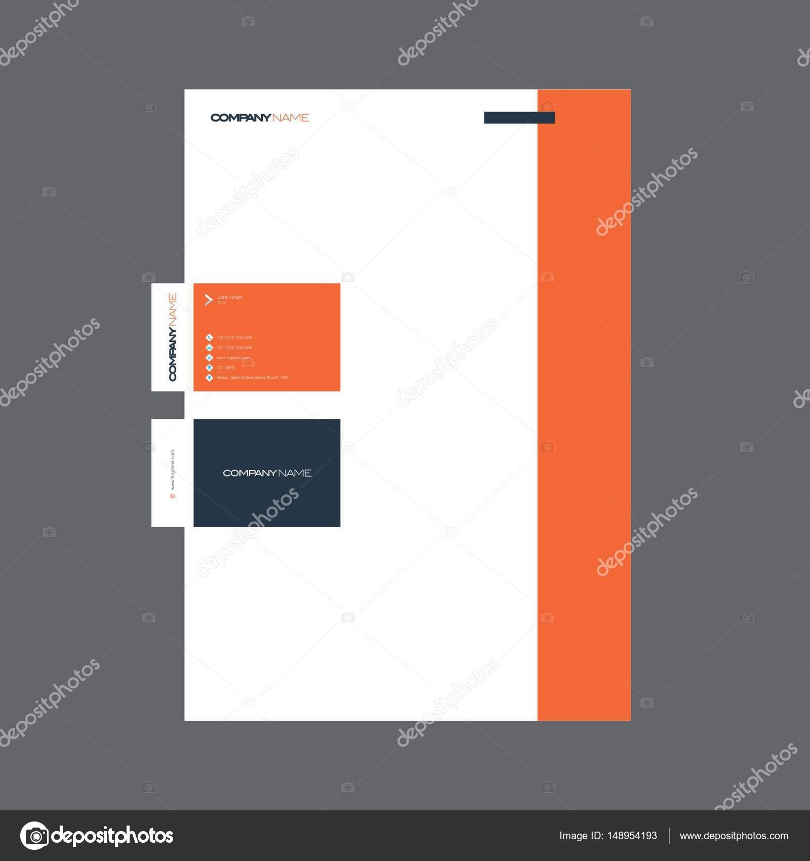 Carte De Visite Professionnelle Et Papier A En Tete Conception Mise Page Entierement Editable Graphiques Vectoriels Vecteur Par