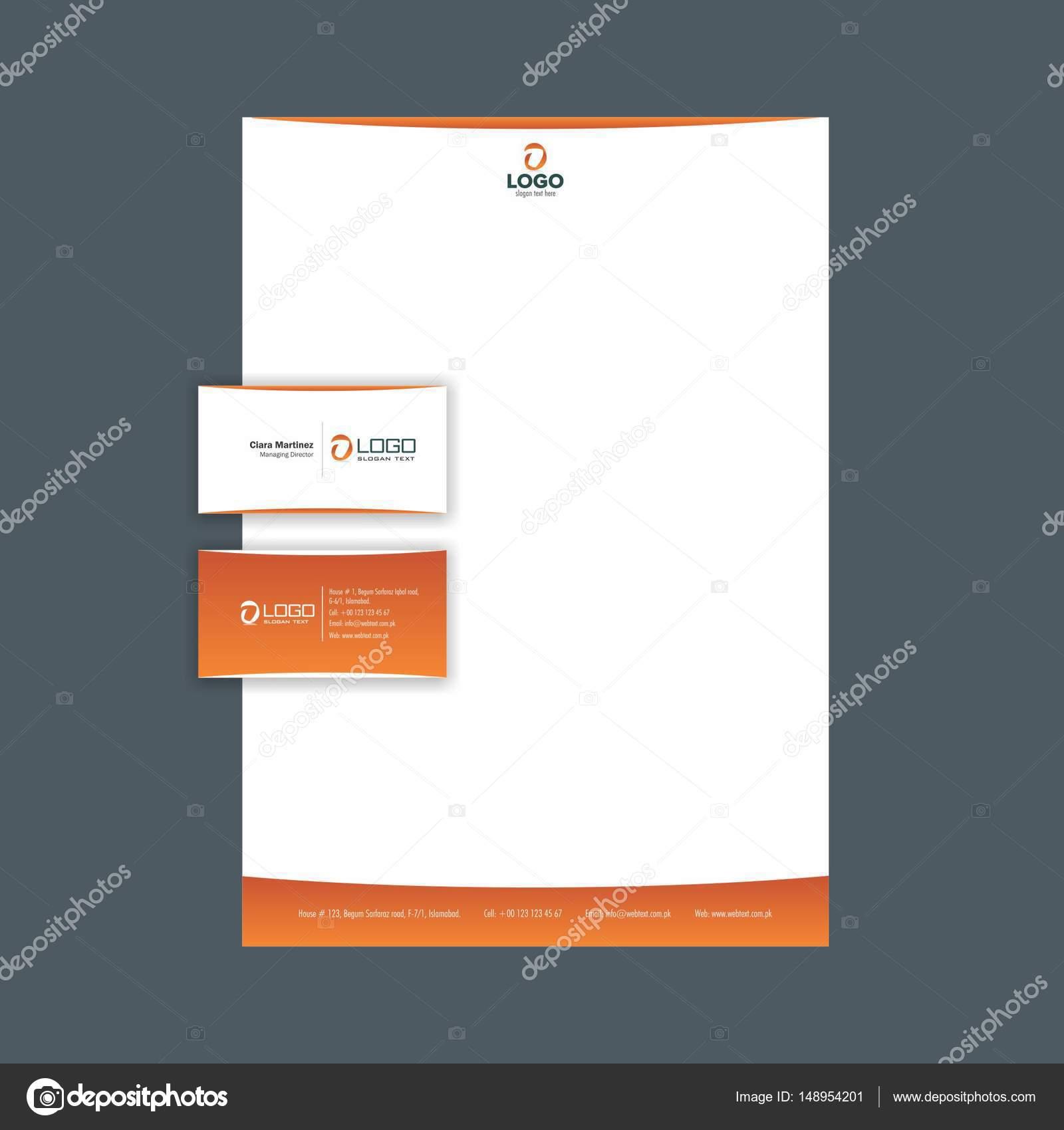 Carte De Visite Professionnelle Et Papier En Tte Conception Mise Page Entirement Ditable Graphiques Vectoriels Vecteur Par
