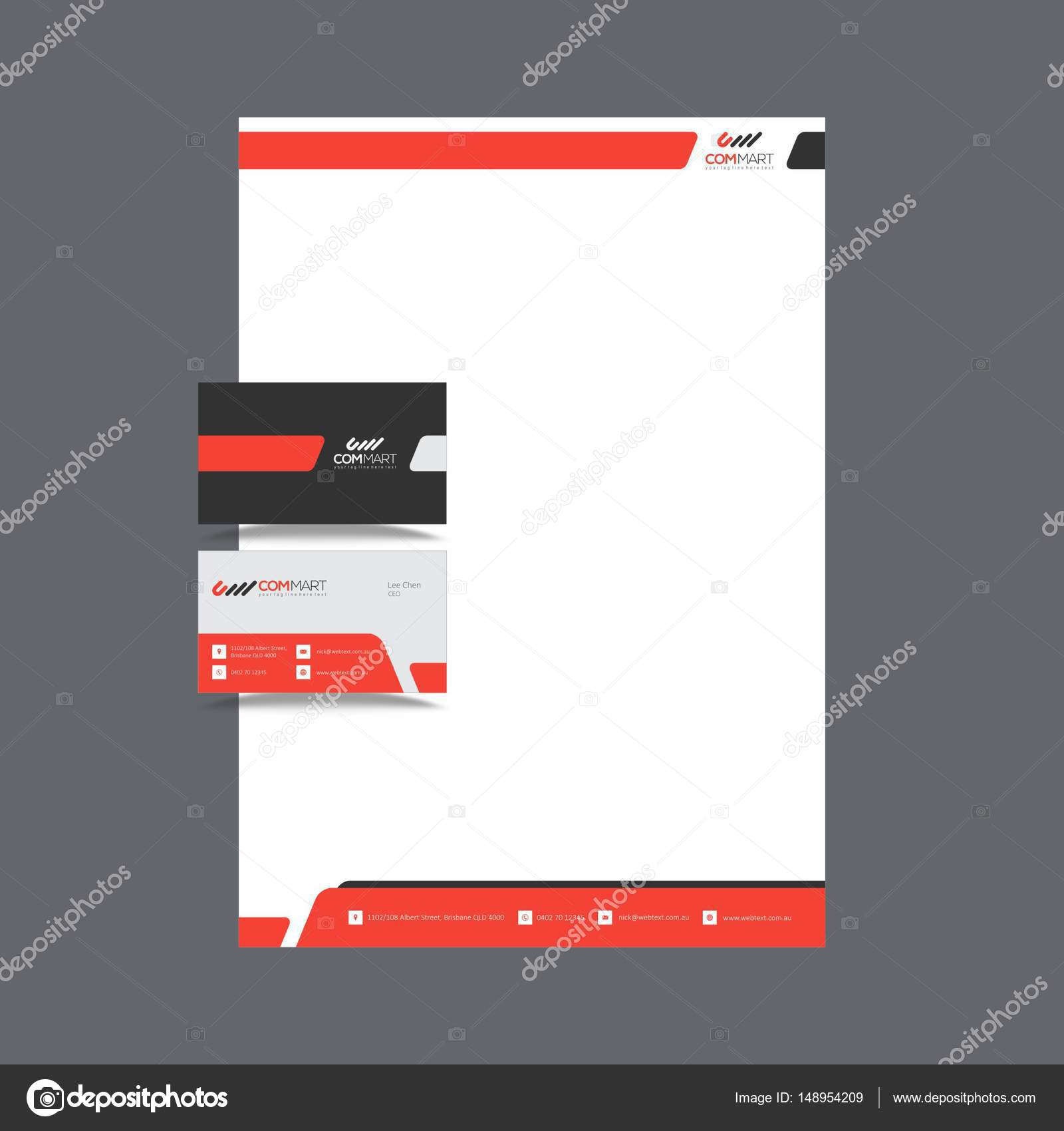 Beautiful Business Card and letterhead Design — Stock Vector ...