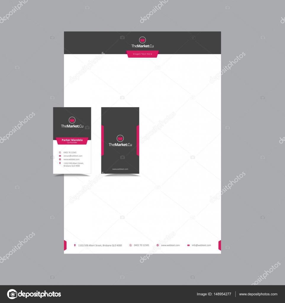 Schöne Visitenkarte und Briefpapier Design — Stockvektor ...
