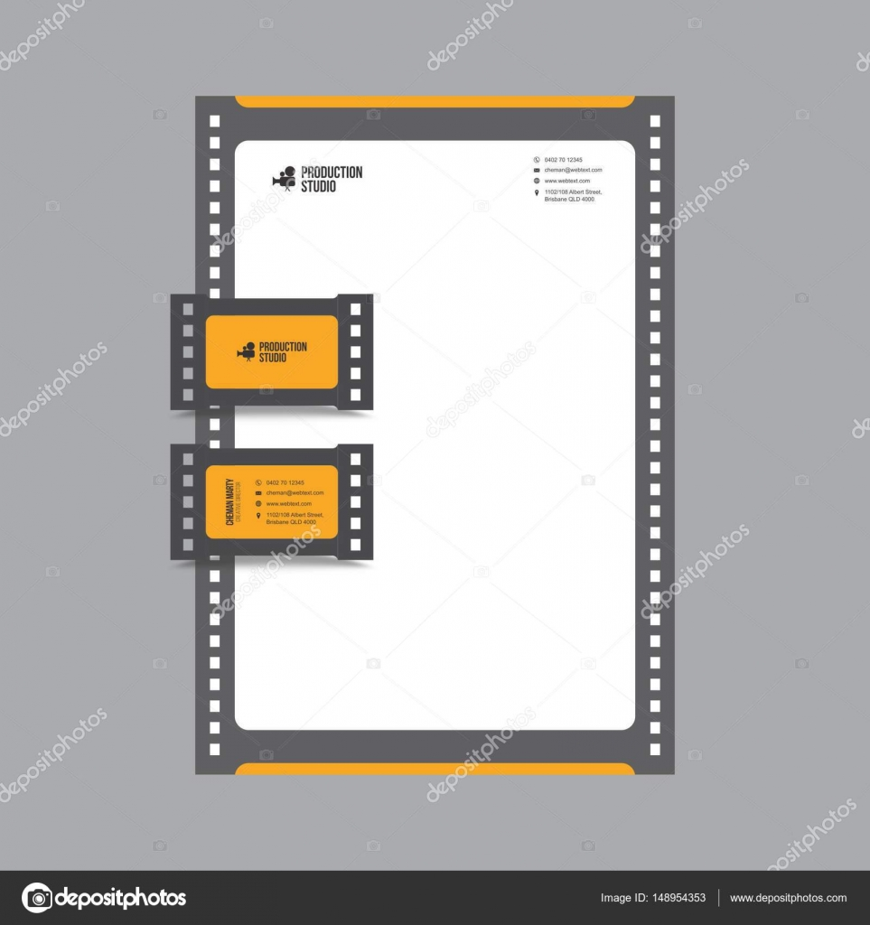 Film production business card and letterhead design stock vector business card and letterhead design vector graphics fully editable vector by shahsoftproductionyahoo colourmoves