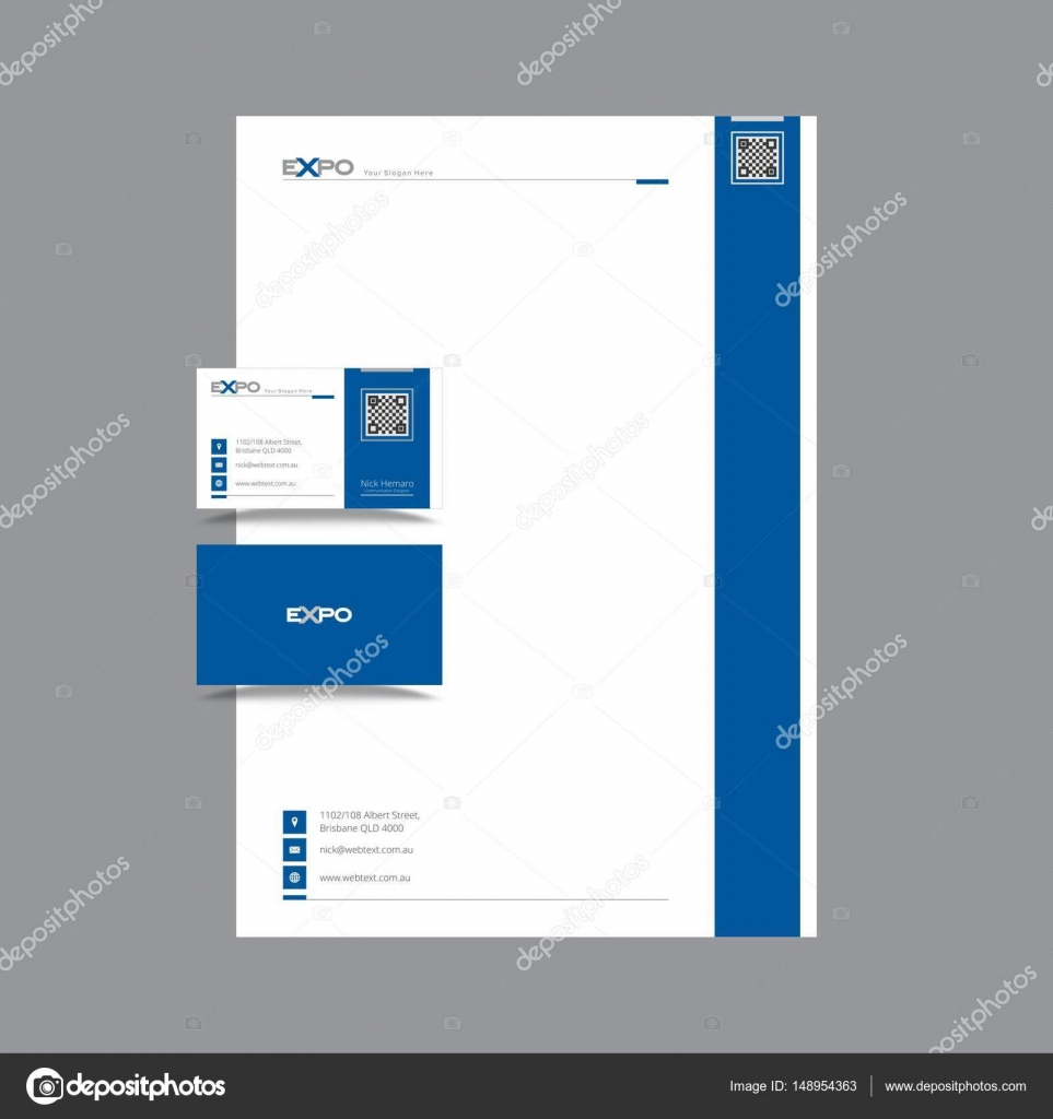 Professional business card and letterhead design stock vector business card and letterhead design vector graphics fully editable vector by shahsoftproductionyahoo reheart Image collections