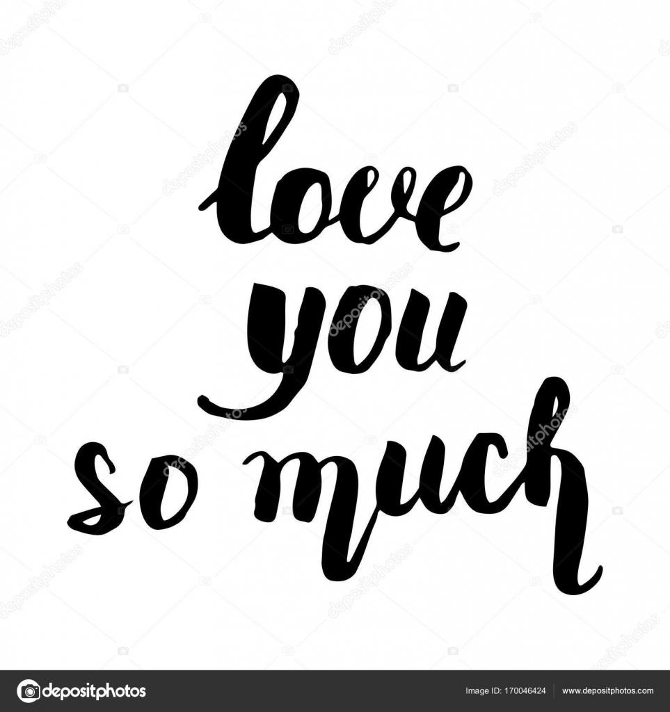 Love U So Much Mooie Offerte Met De Hand Geschreven Met Een Borstel