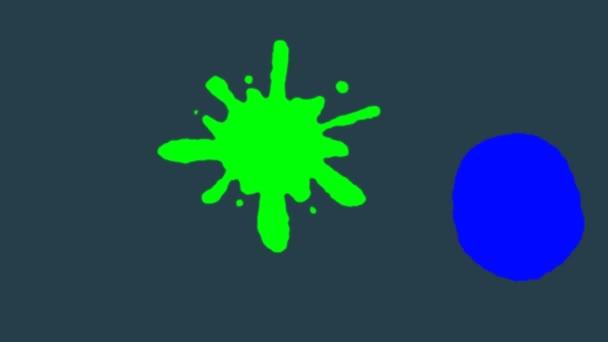 Világos színű cseppek hullanak fentről és eltörnek. Szín Burst irizáló többszínű színes robbanás folyadék tinta részecskék.