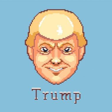 Donald Trump, Pixel art, United States of America