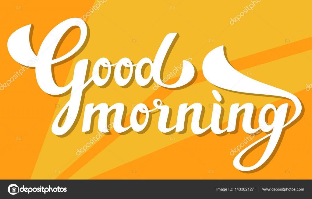 Morning Slogan Good Morning Slogan Stock Vector C Nordenwind Ukr Net 143382127