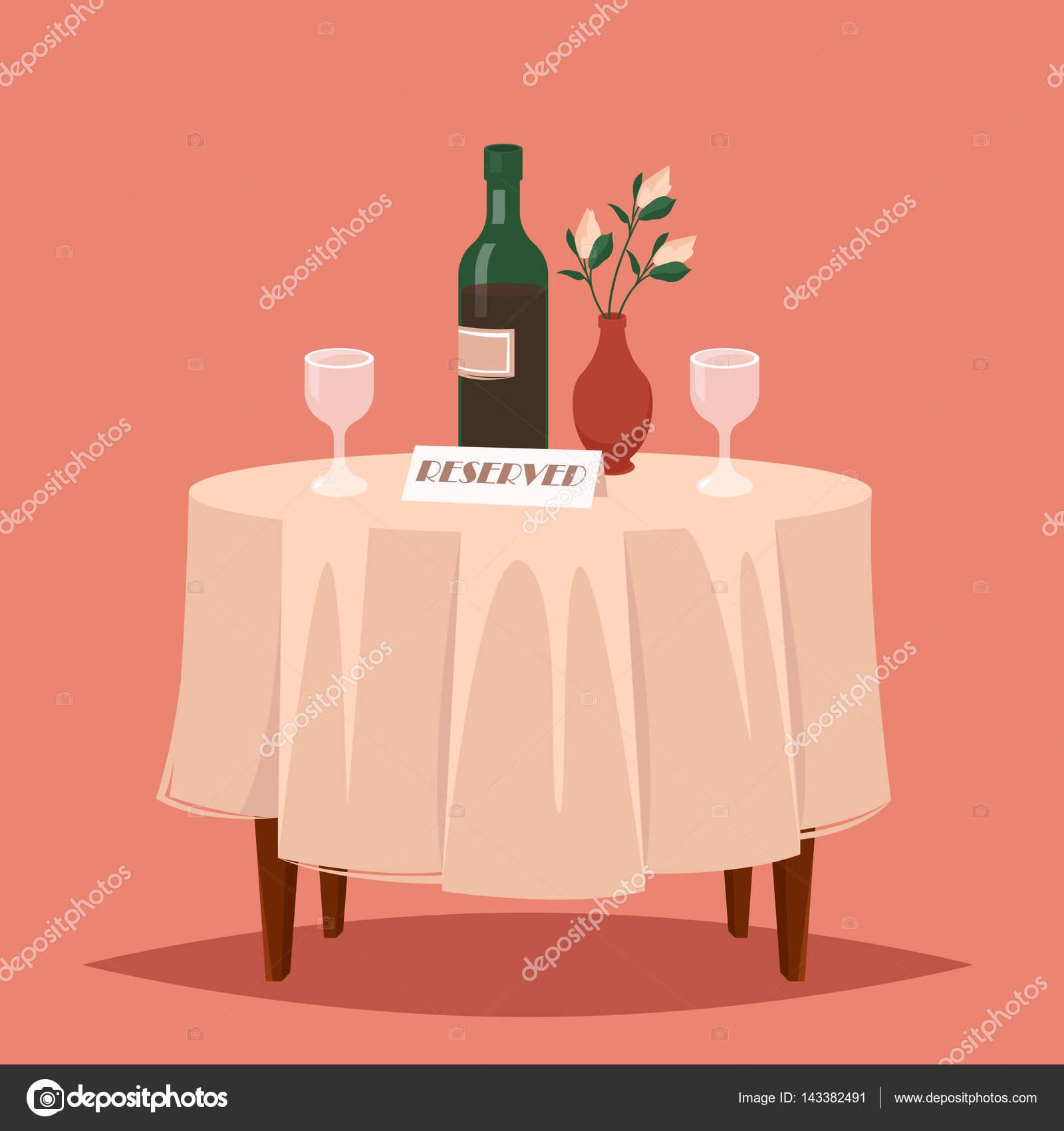 mesa reservada en el restaurante — Vector de stock © nordenwind ...