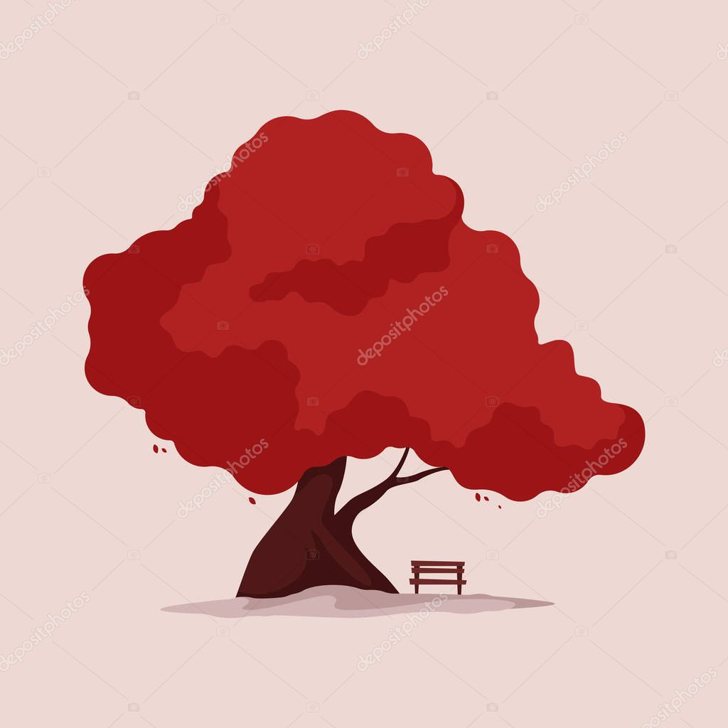 tree with bench under