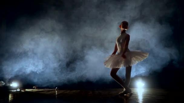 dívka tančí balet na jevišti