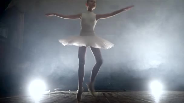 girl dancing ballet on stage