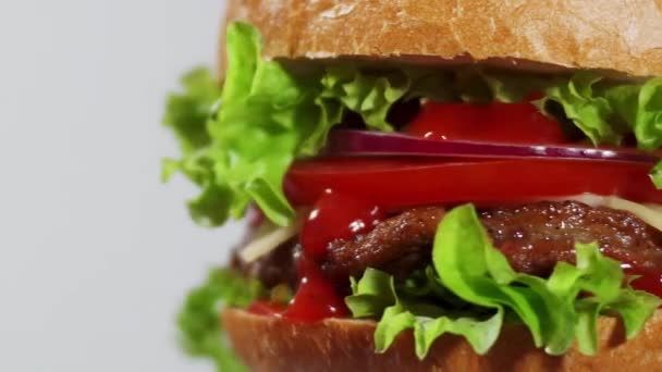 saftige Burger Spin Nahaufnahme