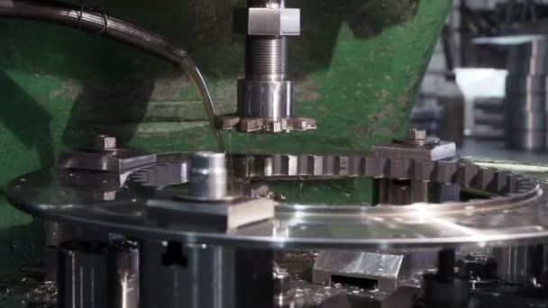CNC machine machining metal