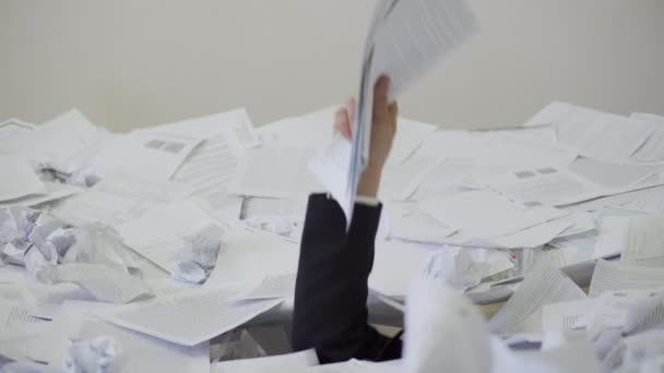 the man found an important document in the bunch of unnecessary documents.