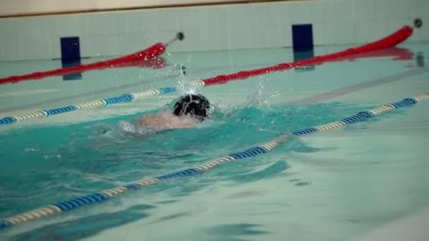 mužské sportovce plave v bazénu