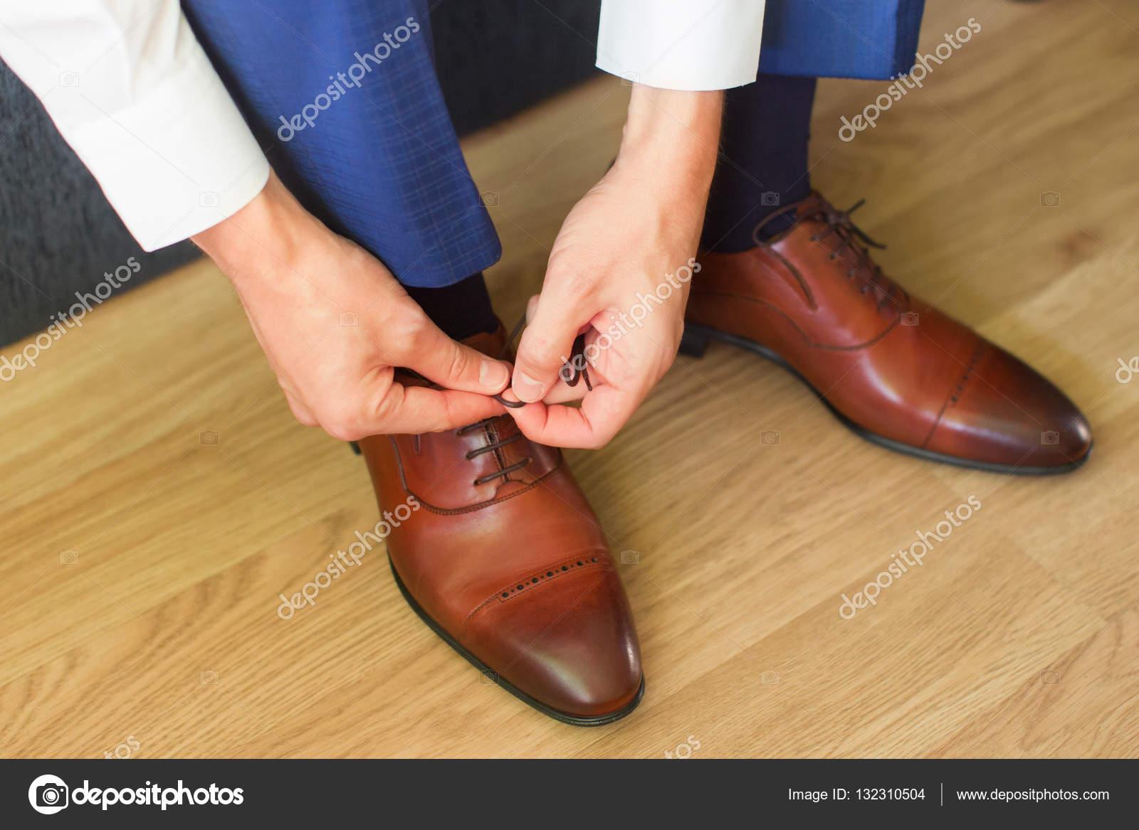 Atar Hombre De Cordones Los Zapatos BxB7aPqr
