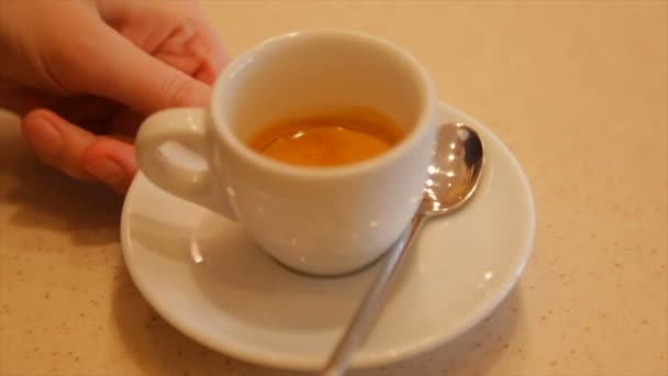 Espresso coffee of the highest quality Italian, made using a professional coffee machine