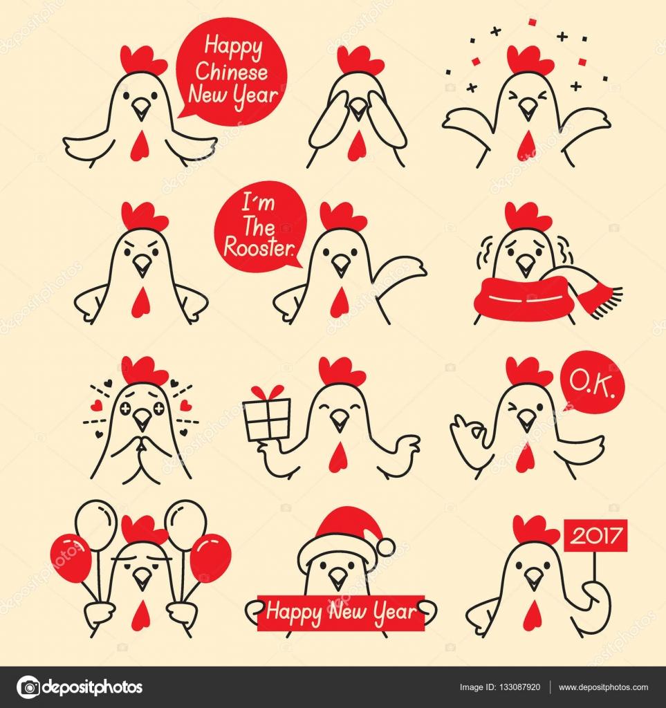 Hahn Emoticons Icons Set — Stockvektor © MatoomMi #133087920