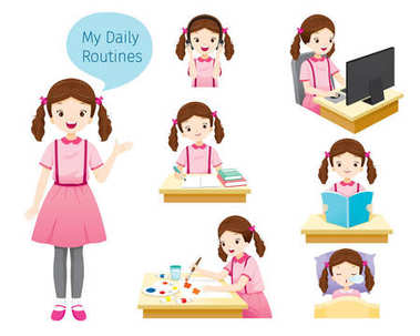 The Daily Routines Of Girl