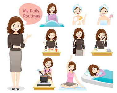 The Daily Routines Of Woman