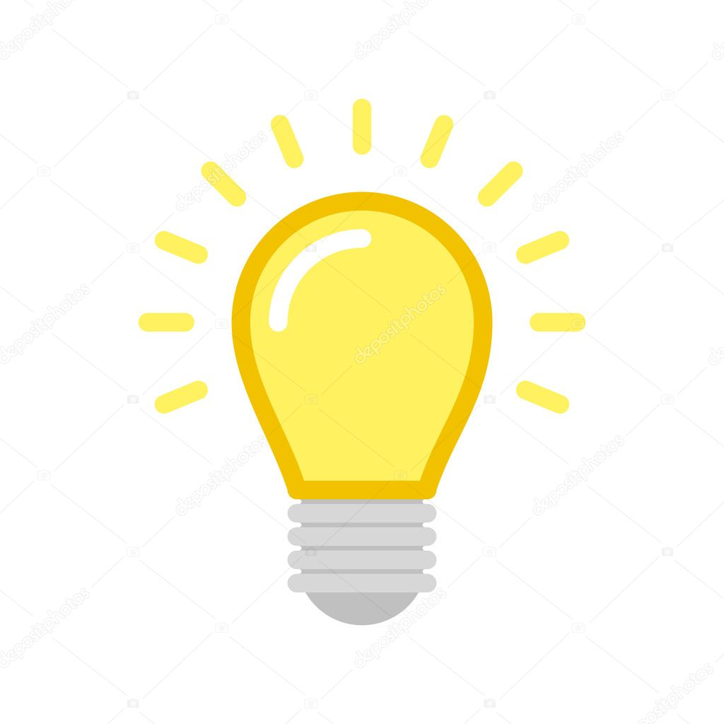 vector lightbulb icon stock vector art sonik 124908036 rh depositphotos com light bulb vector light bulb infographic vector