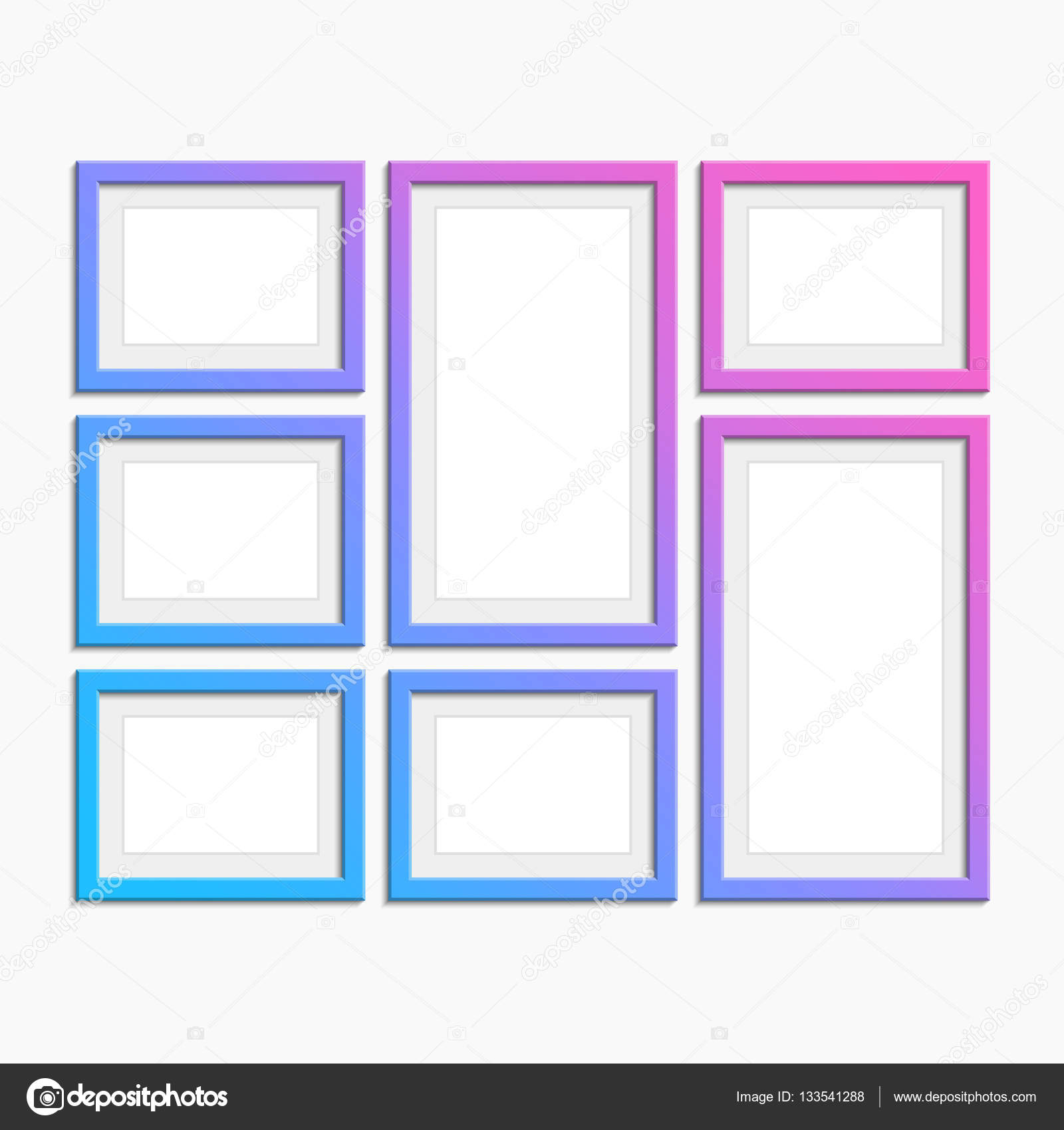 Set of modern photo frames. — Stock Vector © art-sonik #133541288