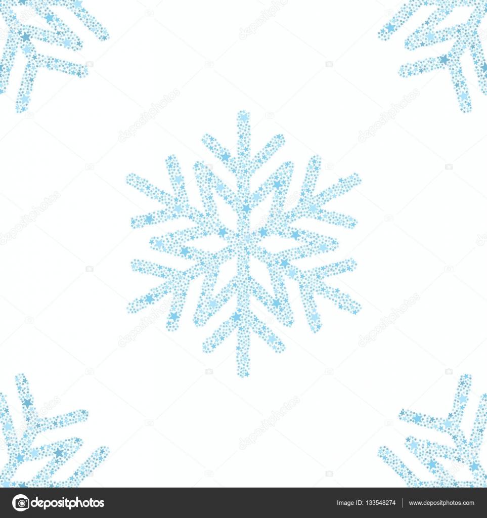 Fondo transparente de copo de nieve azul — Archivo Imágenes ...