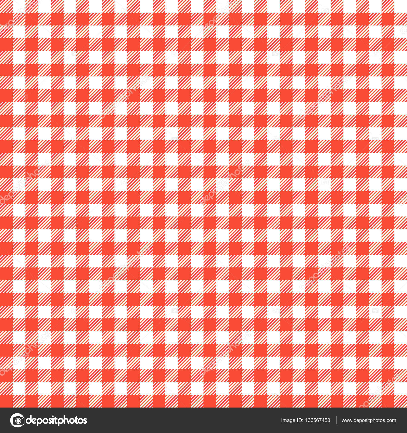 Red Checkered Tablecloths Patterns. U2014 Stock Vector #136567450