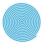 Modré vektorové spirála.