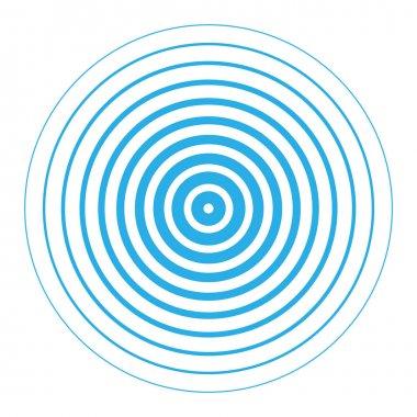 Radar screen concentric circle elements.