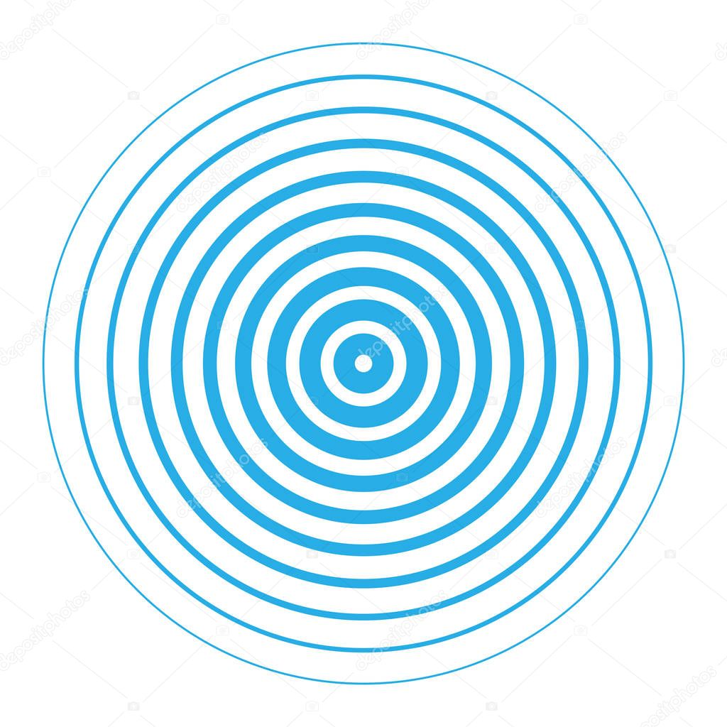 Radar screen concentric circle elements.