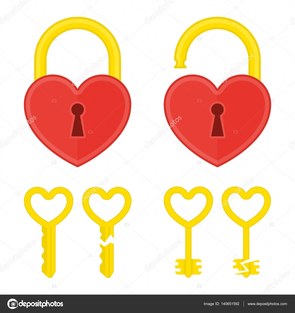 Heart Lock With Key Stock Vector Art Sonik 140651592