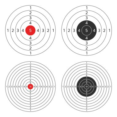Shooting target vector set.